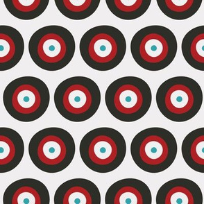 Red, Gray, & Blue Targets