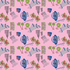 I Love LA - pink