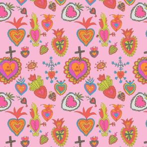 Hearts-pink