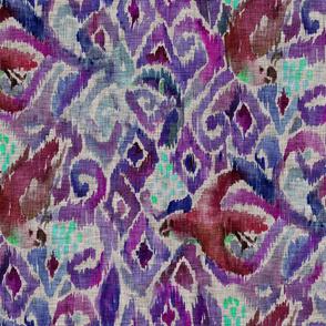 Ikat Parrot - Violet