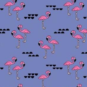 Flamingos // periwinkle