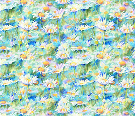 happy daisies fabric by designed_by_debby on Spoonflower - custom fabric