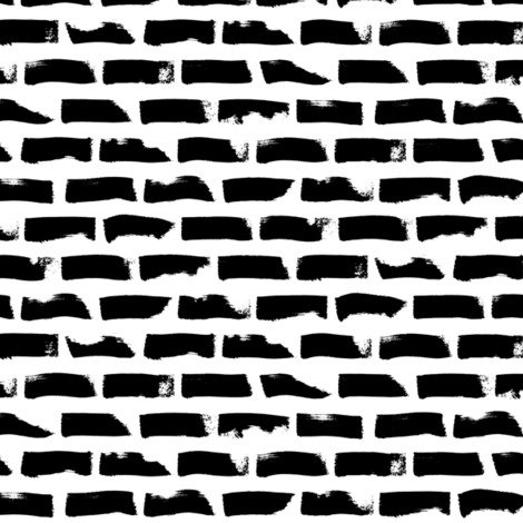 black white big dotted stroke horizontal fabric by primuspattern on Spoonflower - custom fabric
