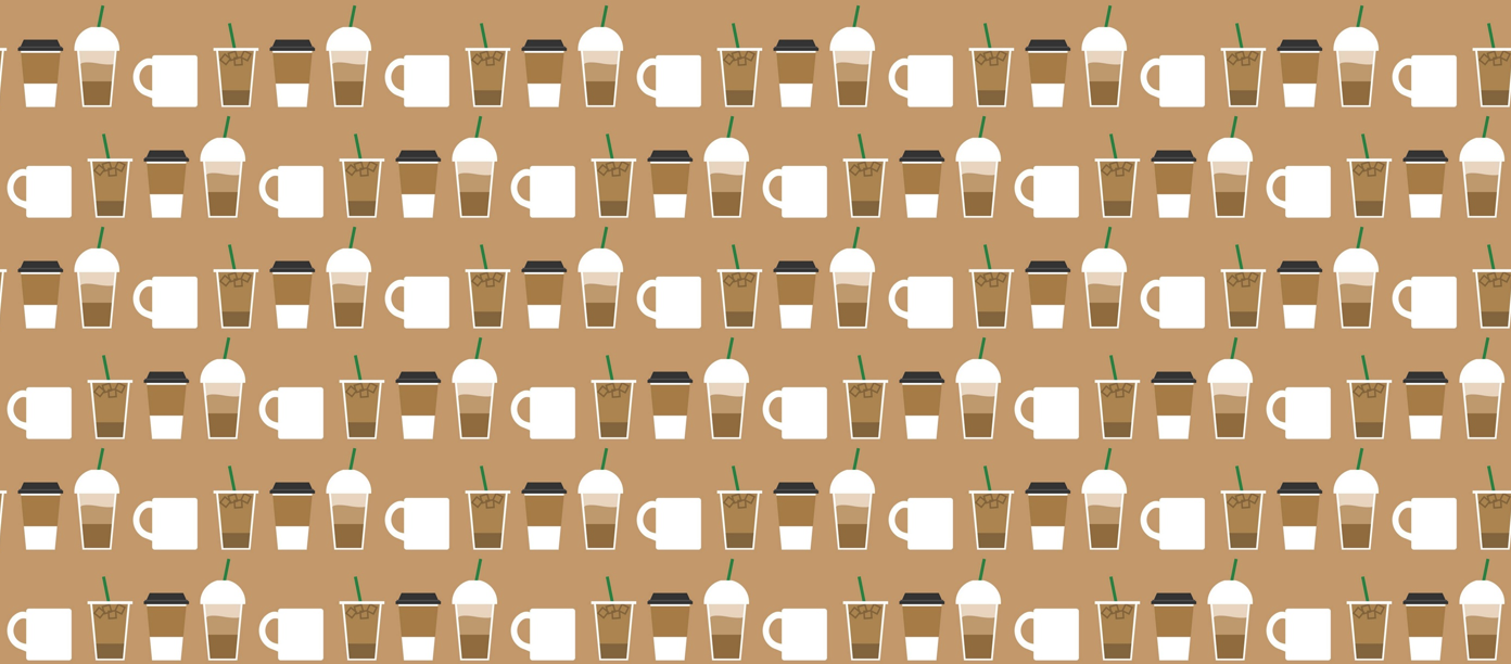 Cute Coffee Wallpaper Lavender Spoonflower
