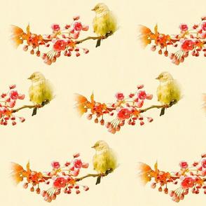 Cherry Blossom & Bird