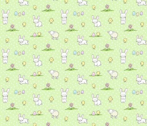 Easter Kawaii fabric by hazelfishercreations on Spoonflower - custom fabric