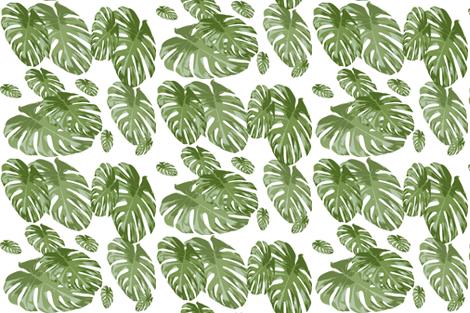 Tropical Palm Elephant leaf in greens Botanical Print fabric by jenlats on Spoonflower - custom fabric