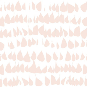 Pale Dogwood Wallpaper Blush Fabric  Pink Blush Drops on White