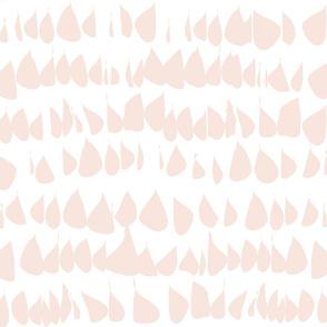 Pale Dogwood Wallpaper Blush Fabric  Pink Blush Drops on White