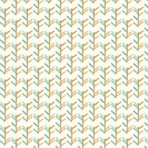Orange and Teal Chevron
