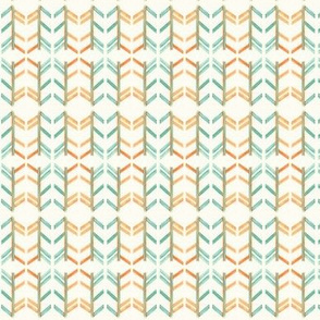 Orange and Teal Chevron Madness
