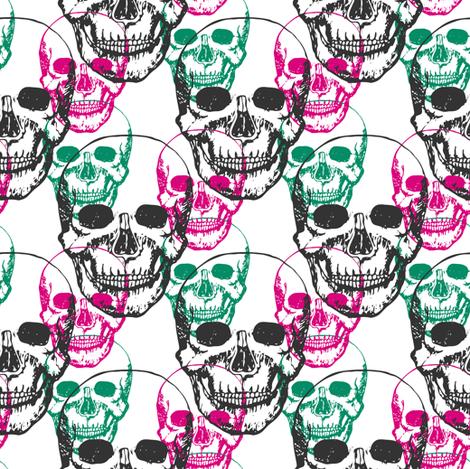 Skulls  fabric by worldion on Spoonflower - custom fabric
