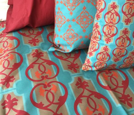 Interlocking hearts turquoise_Miss Chiff Designs