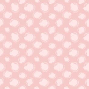 Dry brush swirls in pastel pink