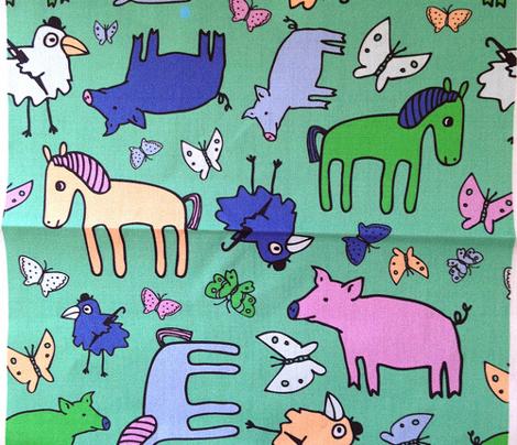Pigs & Ponies - Green & Blue
