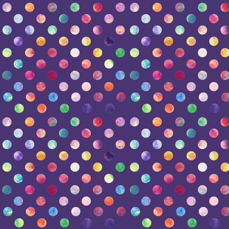 Watercolour Dots (purple variant) fabric by mmarie-designs on Spoonflower - custom fabric