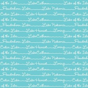 Minneapolis lake names, turquoise
