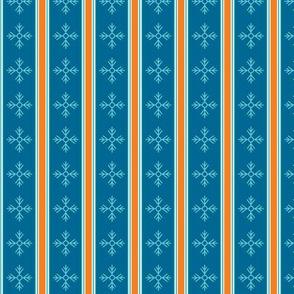 Snowflakes, turquoise