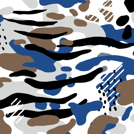 Modern snow camouflage, gender neutral camo  fabric by canigrin on Spoonflower - custom fabric
