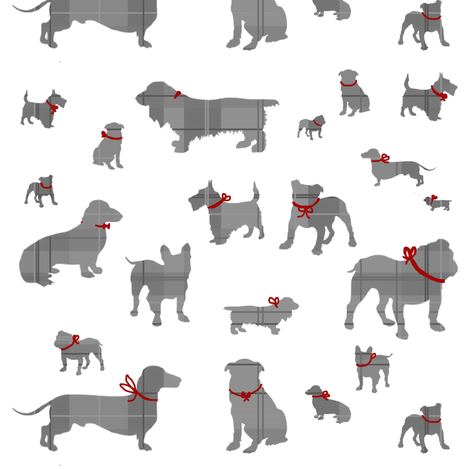 Plaid Dogs (white variant) fabric by mmarie-designs on Spoonflower - custom fabric
