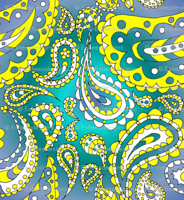 Paisley Doodle (Turquoise)