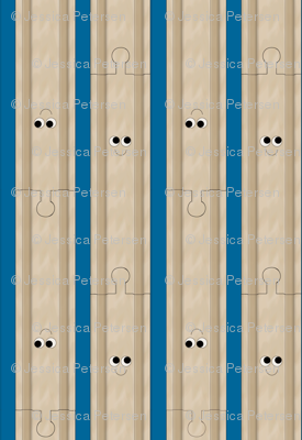 Happy Wooden Train Tracks
