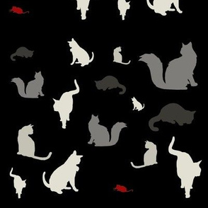 Mouse Hunt (black, white & red variant)