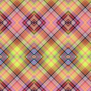 FRUITY LICORICE SWEETS CANDIES DIAGONAL PLAID
