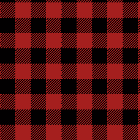 90's Black and Red Buffalo Check Plaid - Small Scale fabric by elliottdesignfactory on Spoonflower - custom fabric