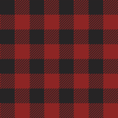 90's Black and Red Buffalo Check Plaid - Small Scale
