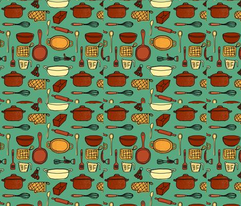 InTheKitchen fabric by monettestudio on Spoonflower - custom fabric