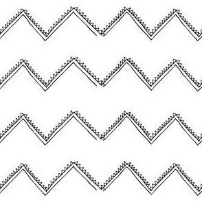 TRIBAL ZIG ZAG BLACK ON WHITE