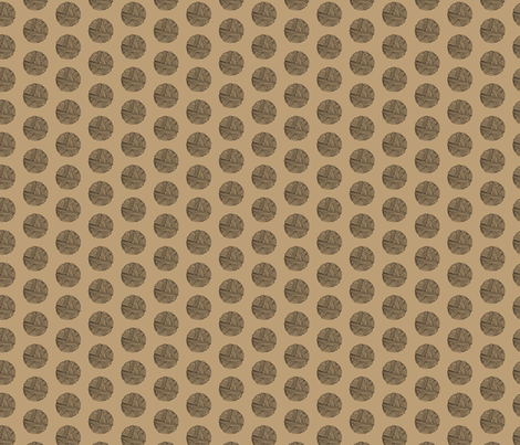 Ball of Wool Taupe_Miss Chiff Designs fabric by misschiffdesigns on Spoonflower - custom fabric