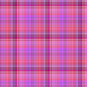 WATERCOLOR FUN PARTY PLAID PINK RED ULTRAVIOLET BURGUNDY