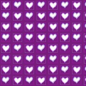 Two hearts purple