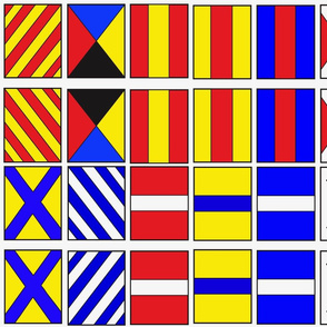 Nautical Flags letter Y, Z, numbers 0-9 (3/3)