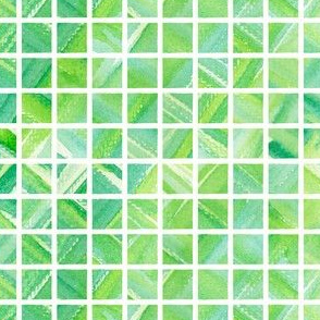 Watercolor Grid (Bright Green)