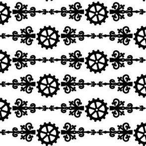 Steampunk Gears and Flourish