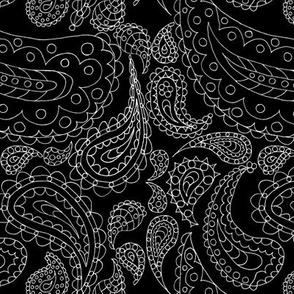 Paisley Doodle (Reversed Pen & Ink)