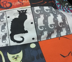 Cat Lady Patchwork Cheater Quilt