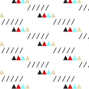 Mountains and Rain with Happy Triangles