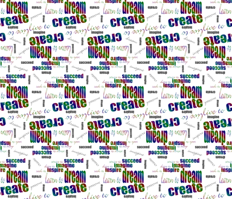 DICIS Phrases (Rainbow) fabric by esheepdesigns on Spoonflower - custom fabric