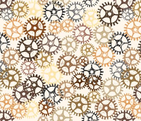 Geared Up fabric by karapeters on Spoonflower - custom fabric
