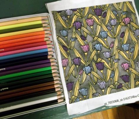 Multicolored Tulips Purple