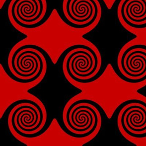Black and Red Swirls