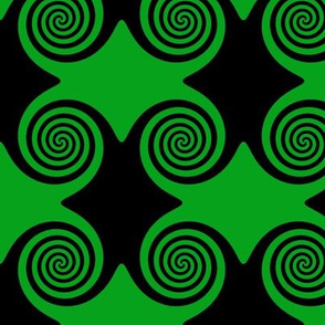 Black and Green Spirals