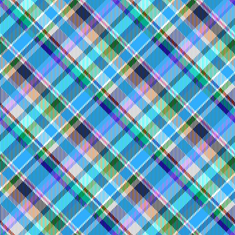 Mostly Blue Madras Plaid fabric by eclectic_house on Spoonflower - custom fabric