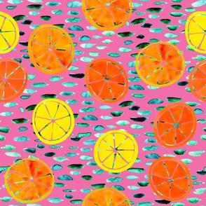 Citrus on Pink