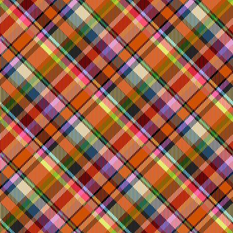 Mostly Orange Madras Plaid fabric by eclectic_house on Spoonflower - custom fabric