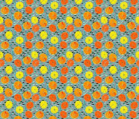 Citrus on Gray fabric by natalievmason on Spoonflower - custom fabric